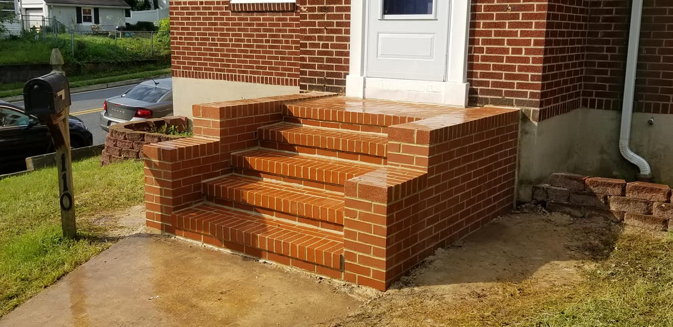 baltimore masonry brick steps repaired