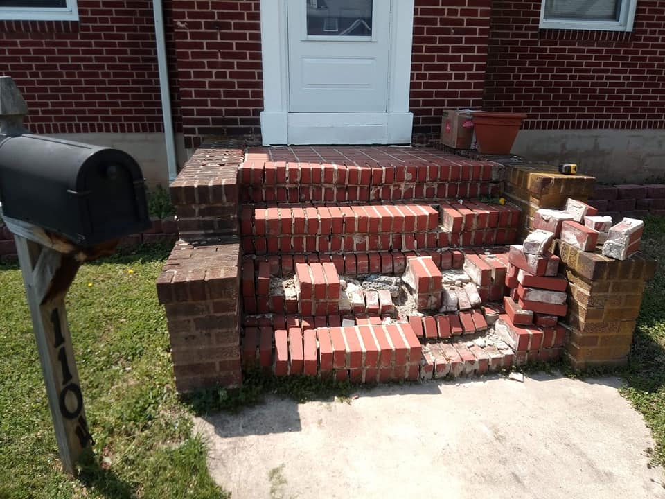 baltimore masonry brick steps before repair