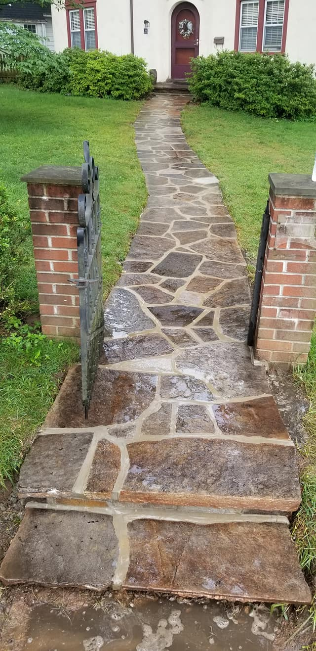 Stone Walkway by blue jay construction