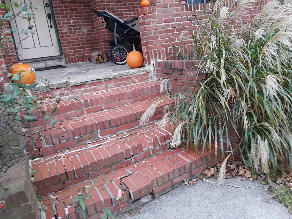 Old Weathered Brick Steps
