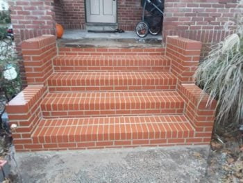 Refinished brick steps by blue jay construction