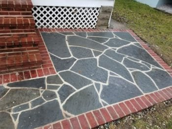 blue jay masonry stone walkway